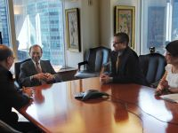 Maurice Greenberg meeting with USCN leadership in his New York office