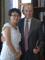 Maurcie Greenberg with Shirly Ling, Vice Chairwoman and Vice President of USCN China Branch